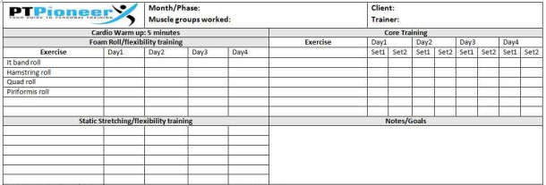 Workout Schedule Template  Your Clients Will Love You  Ptpioneer