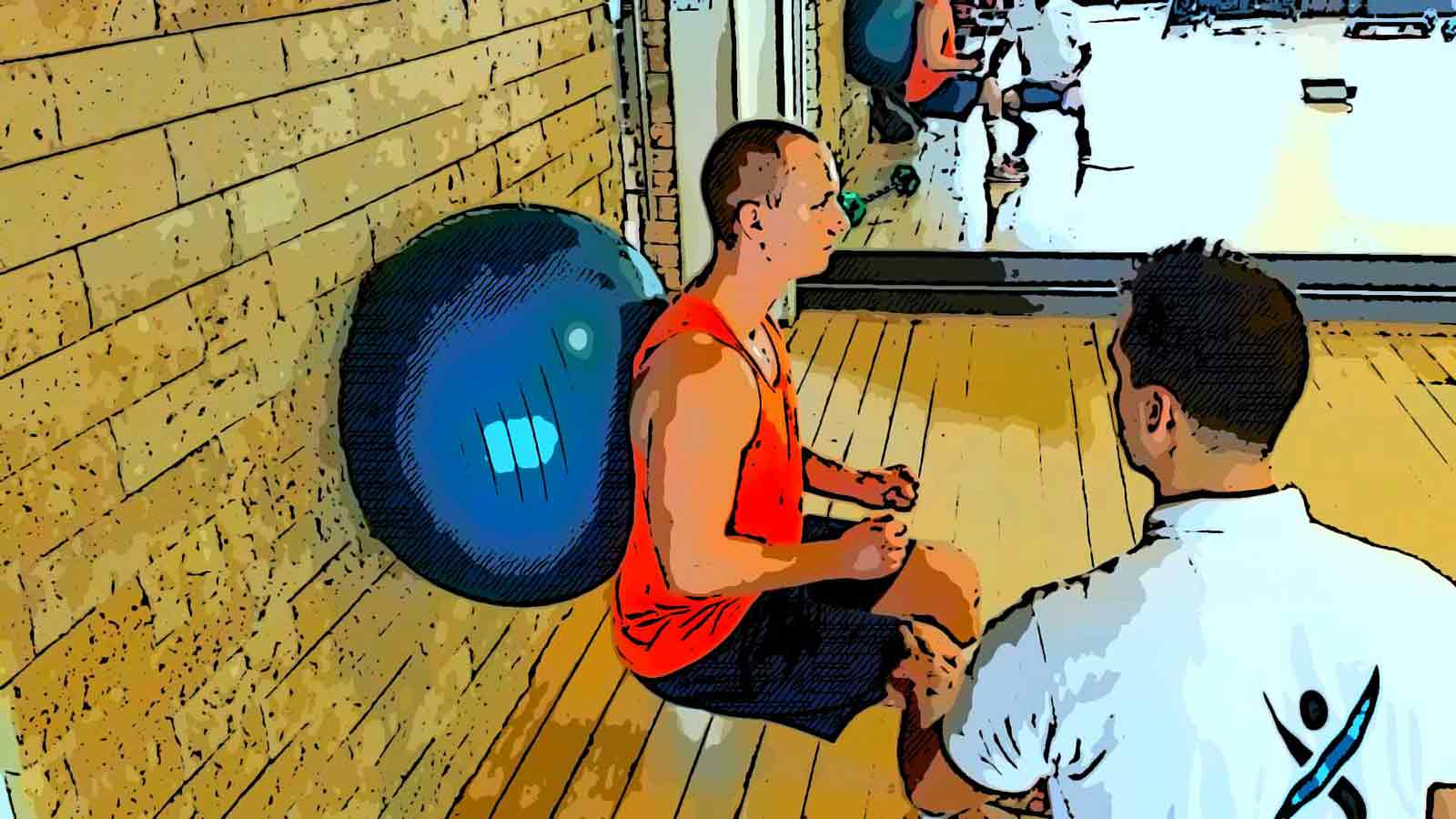CES wall ball squat