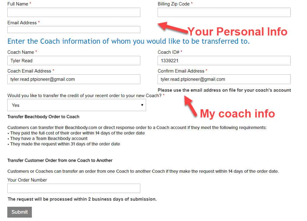 beachbody coach change form part two
