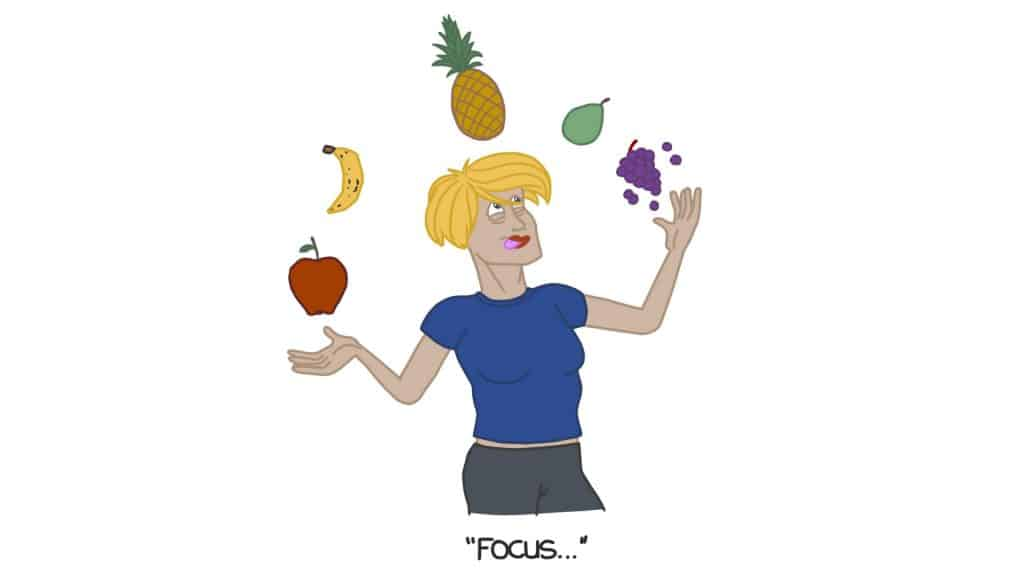 Focus on fruits and vegetables