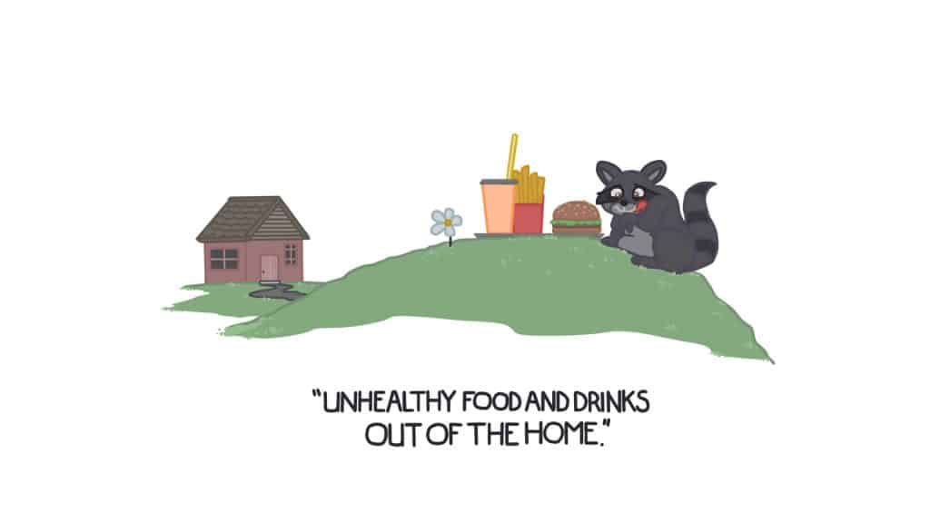 Unhealthy Foods and Drinks out of home