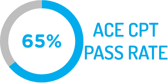 ACE exam pass rate