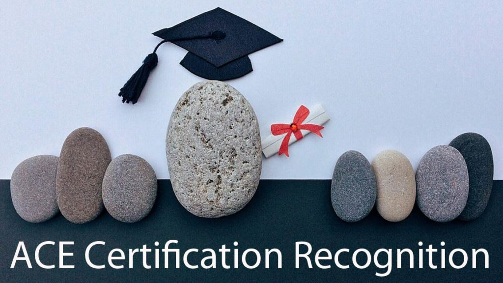 ACE certification recognition