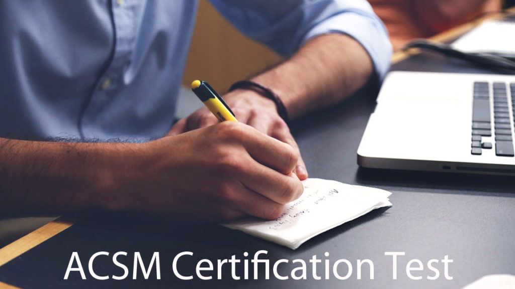 ACSM Certification Test