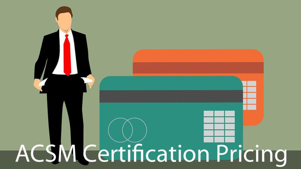 ACSM certfication pricing