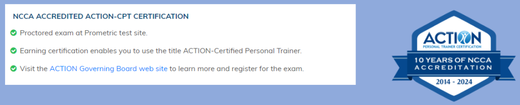 Action Personal Training Certificate Review 2019 - Full