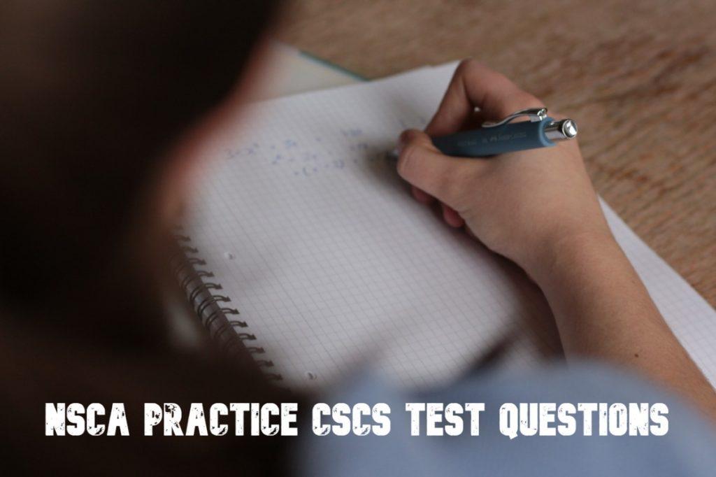 NSCA Practice CSCS Test Questions