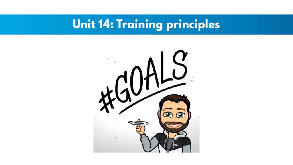 ISSA Unit 14 - Training principles