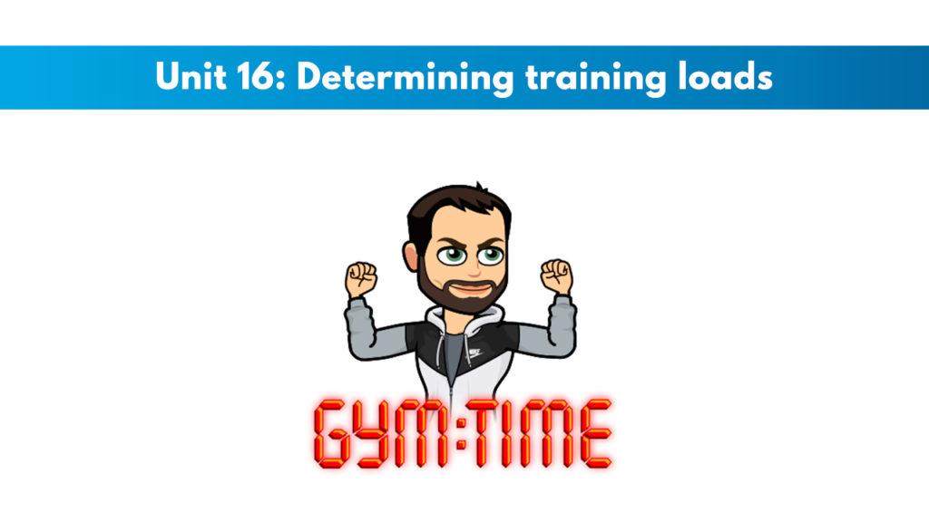 ISSA Unit 16 - Determining training loads