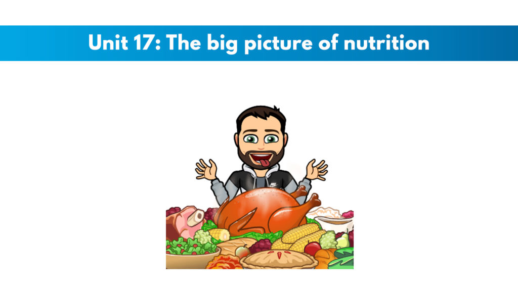 ISSA Unit 17 - The big picture of nutrition