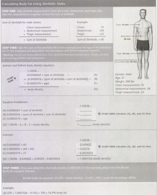 ISSA Unit 11 - Body composition 3