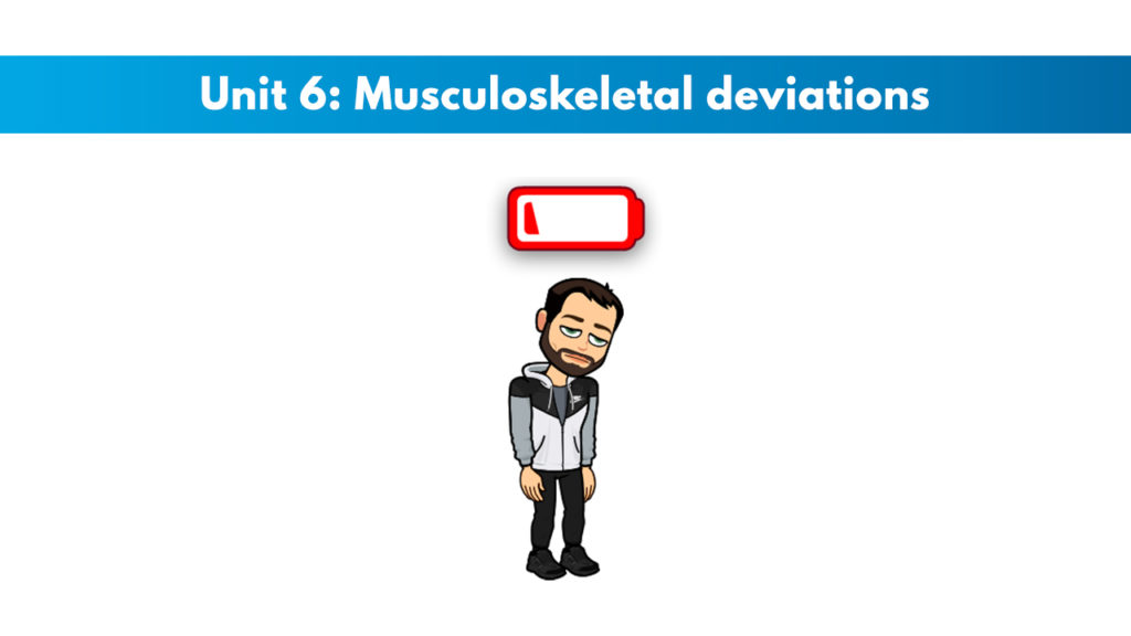 ISSA Unit 6 - Musculoskeletal deviations