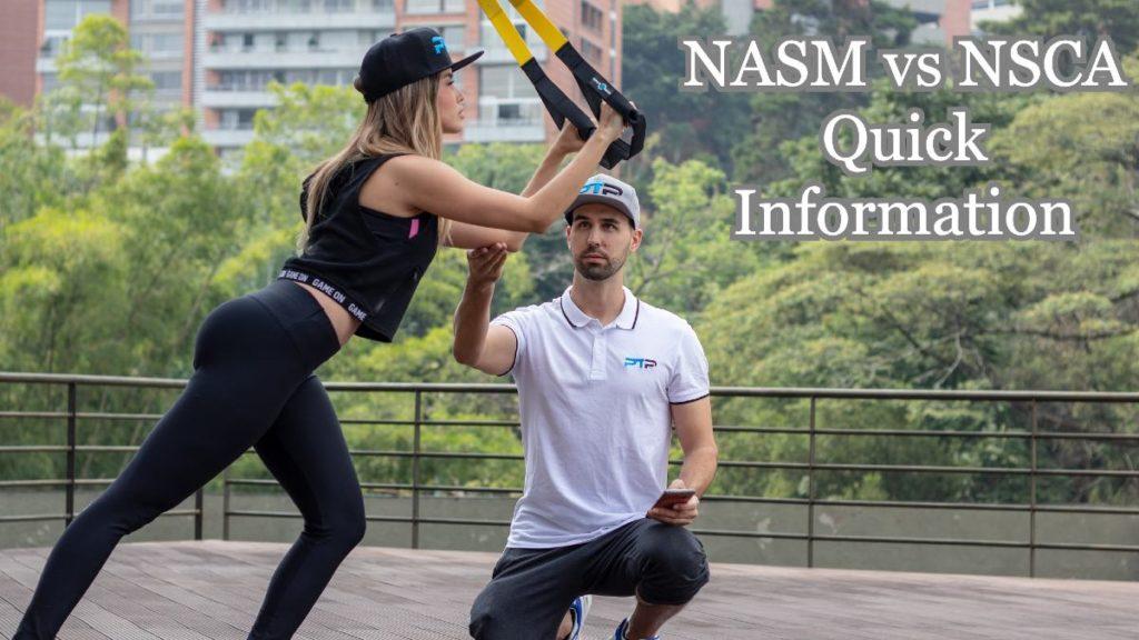 NASM vs NSCA Quick Information