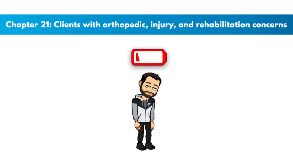 Chapter 21 – Clients With Orthopedic, Injury, and Rehabilitation Concerns