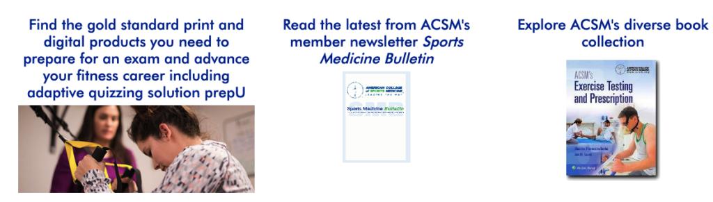 More ACSM study materials
