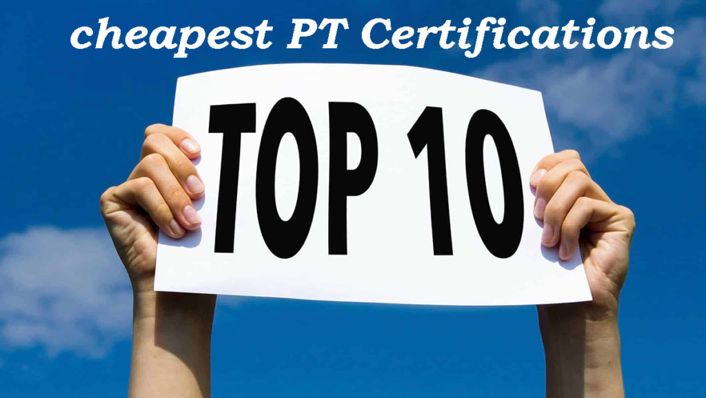 10 Cheapest personal training certifications