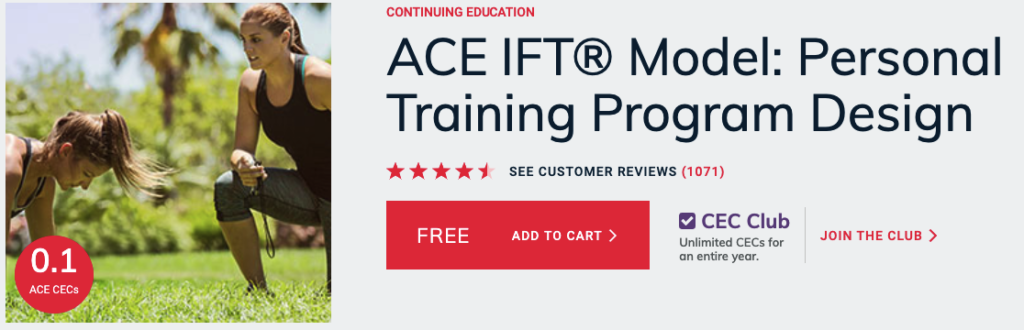 ACE Integrated Fitness Training Model