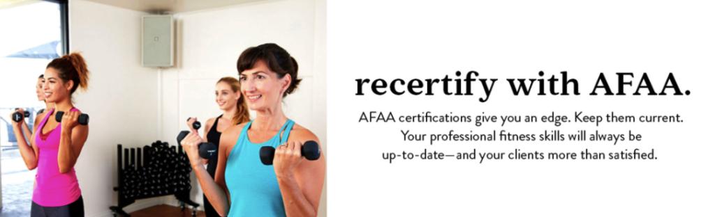 AFAA Recertification