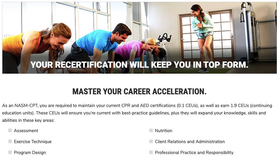 NASM Recertification