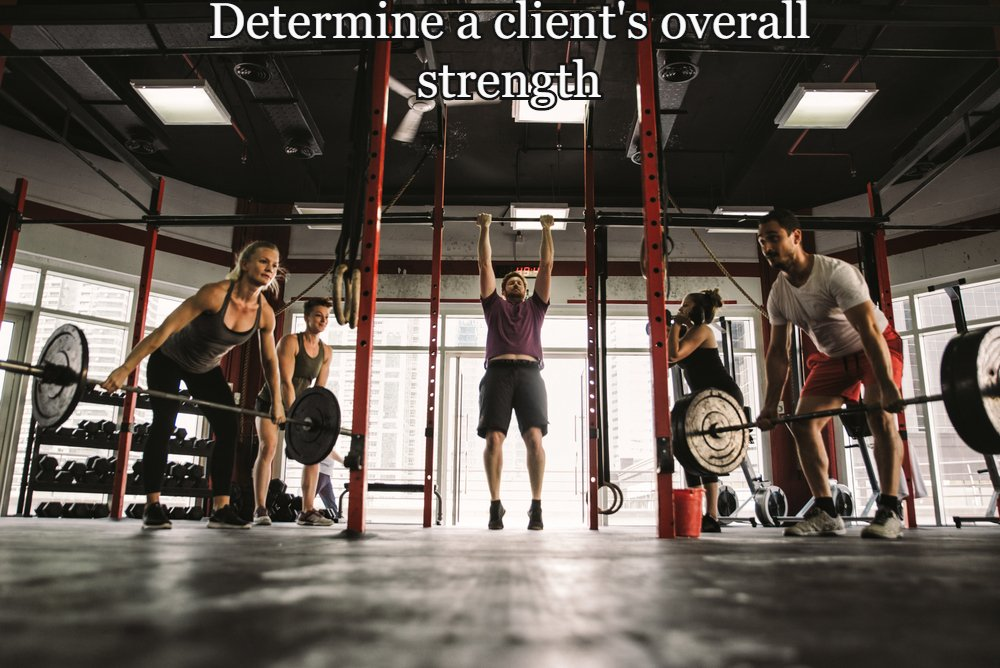 Determining a client's overall strength
