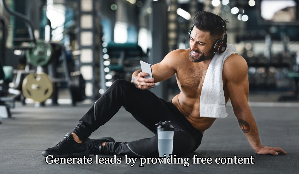 Generate leads by providing free content