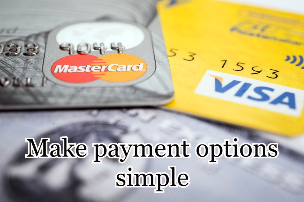 Make payment options simple