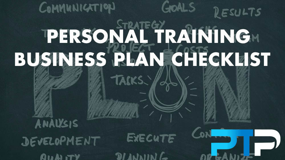 Personal Training Business Plan CHECKLIST
