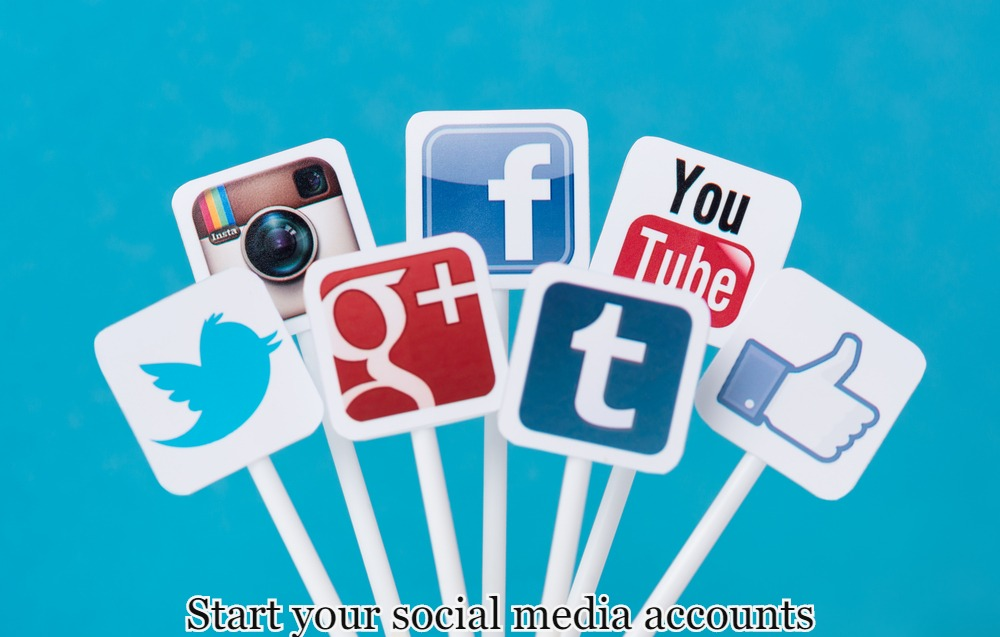 Start your social media accounts