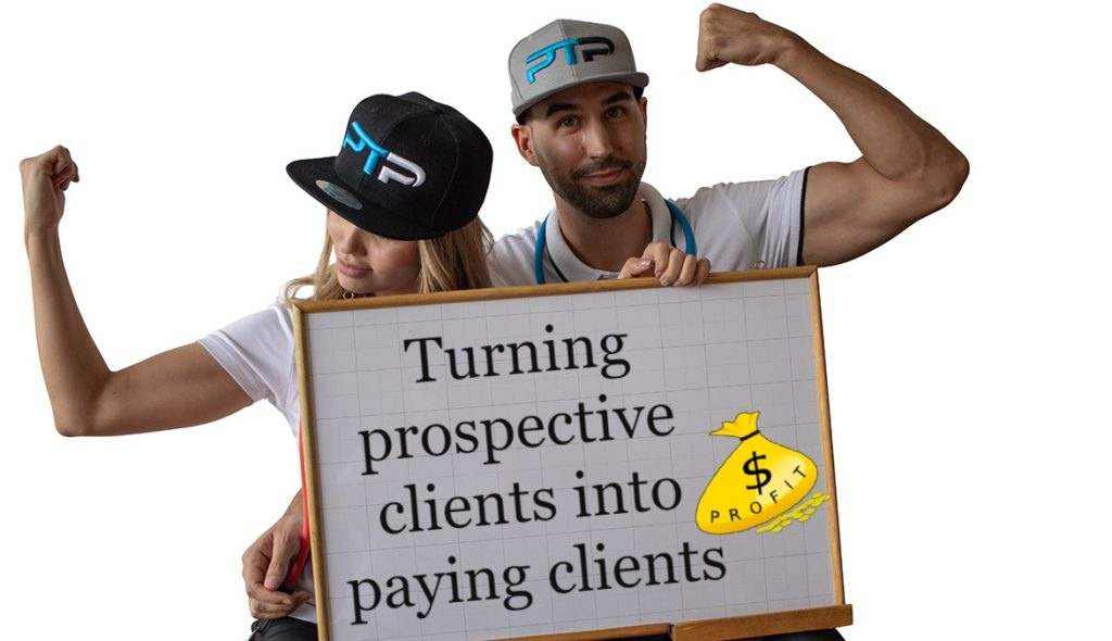 Turning prospective clients into paying clients