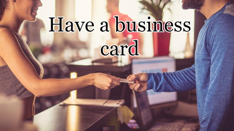 Create a business card