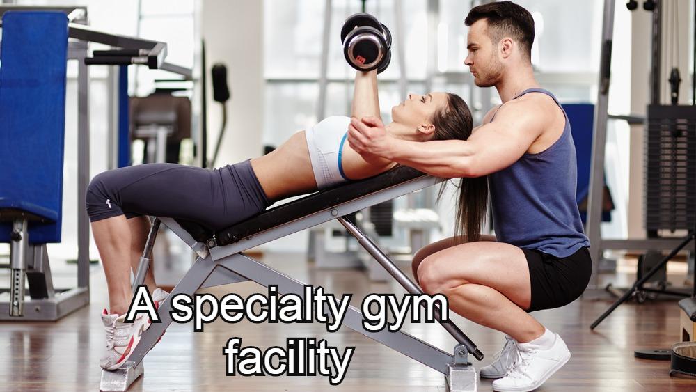 A specialty gym facility.
