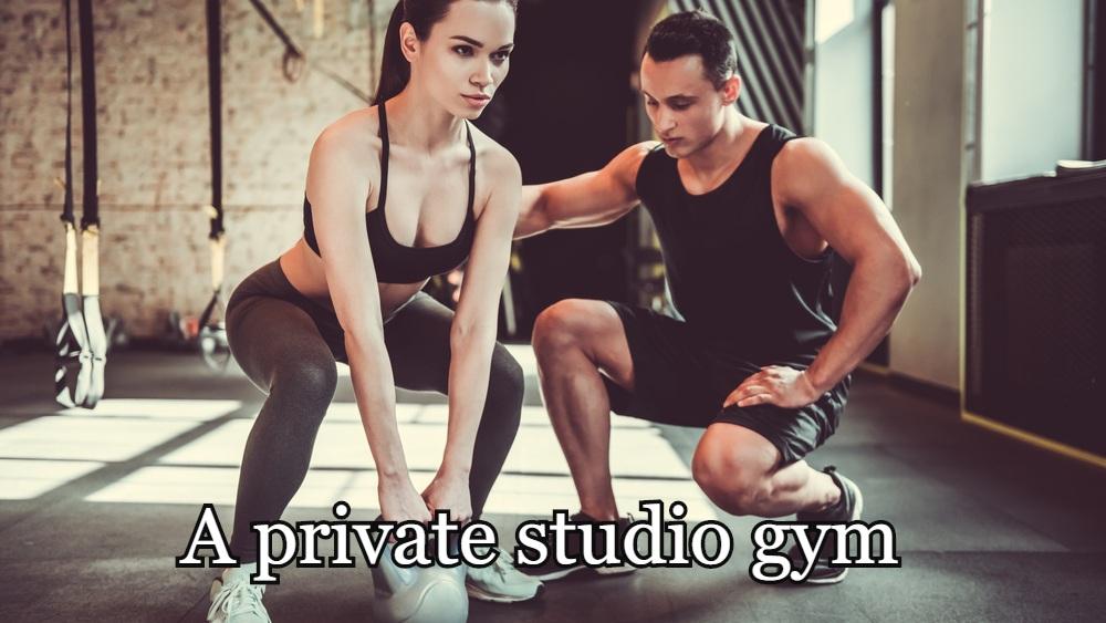 A private studio gym.