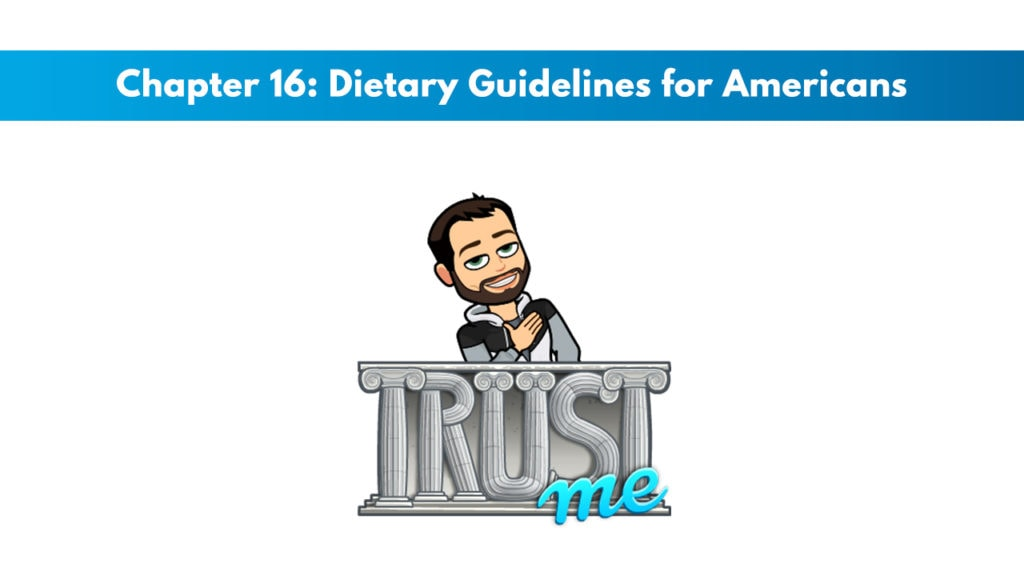 ISSA SN Chapter 16: Dietary Guidelines for Americans