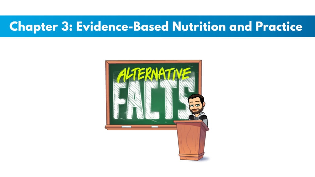 NASM CNC Chapter 3: Evidence-Based Nutrition and Practice